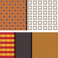 Set of pattern backgrounds