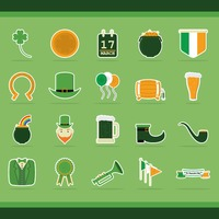 Set of st. patrick's day icons