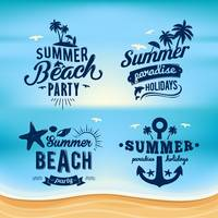 Set of summer beach wallpapers