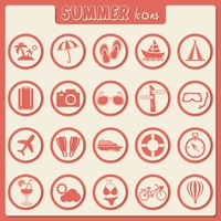 Set of summer icons
