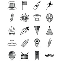 Set of usa icons