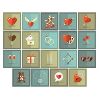 Set of valentine's icons