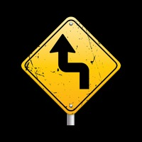 Sharp reverse turns ahead sign