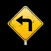 Sharp turn ahead sign