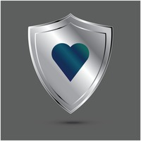 Shield with heart icon