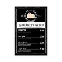 Shortcake menu design
