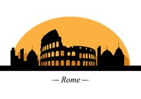 Silhouette of rome