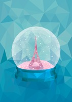 Snow globe of eiffel tower