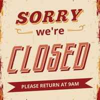 Sorry we're closed wallpaper