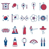 South korean general icons