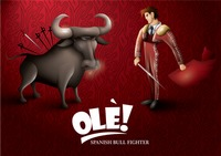 Spanish bull fighter wallpaper