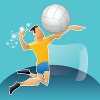 Sports competition volleyball