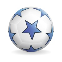 Star pattern soccer ball