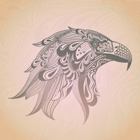 Stylized eagle design