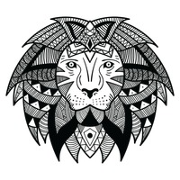 Stylized lion design
