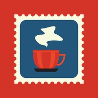Tea cup postage stamp