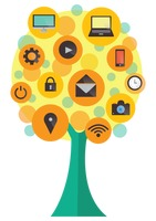 Technology icons tree