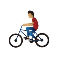 Teenager cycling