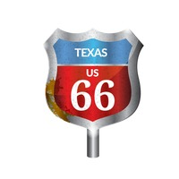 Texas route signboard