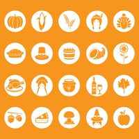 Thanksgiving icons collection