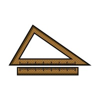 Triangular ruler instrument