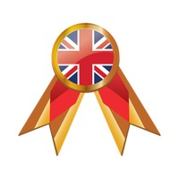 United kingdom flag ribbon