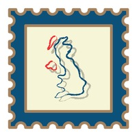 United kingdom map postage stamp