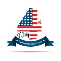 Us independence day label