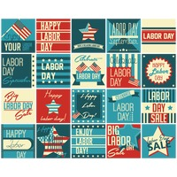 Us labor day icons