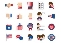 Usa election icons