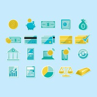 Various financial icons