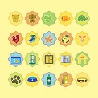 Various pets and pet related icons