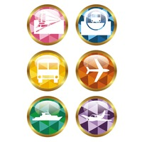 Various transportation icons