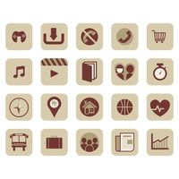 Vintage app icon collection