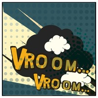 Vroom comic speech bubble