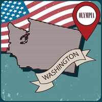 Washington map label
