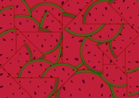 Watermelon slice background