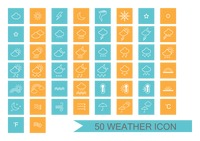 Weather types icon set