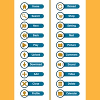 Web interface icons