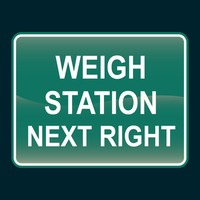 Weigh station next right sign