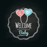 Welcome baby label