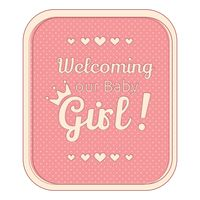 Welcoming our baby girl sticker