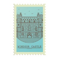 Windsor castle postage stamp