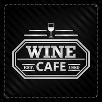 Wine cafe label