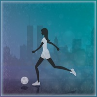 Woman kicking ball