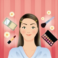 Woman with beauty cosmetics