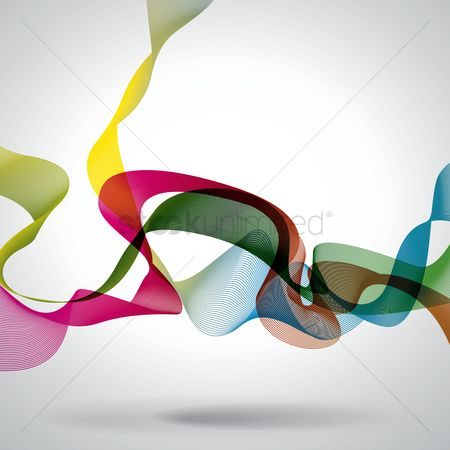 Ribbon : Abstract background