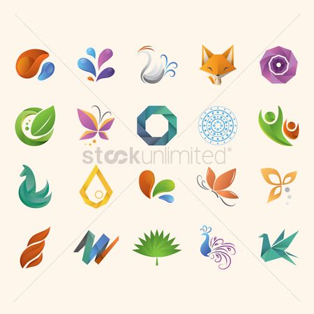 Animal : Abstract icon set