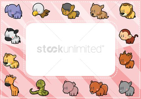 Cute : Animals on a label