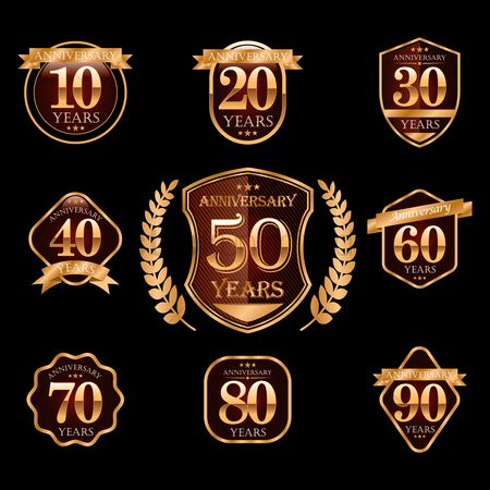 Vectors : Anniversary design collection